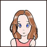 女の子のイラスト画像